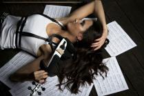 портрет для скрипачки