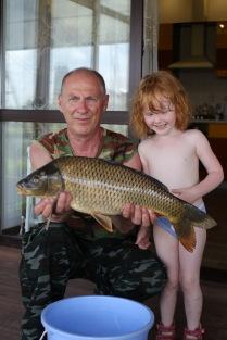 Счастливый рыбак и внучка
