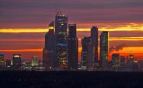 Москва Сити на закате.