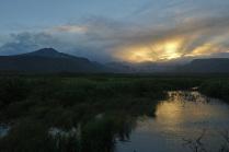 Закат на острове Парамушир