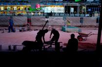 Реконструкция пешеходной зоны на Новом Арбате летом 2016 года