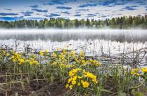 Рассвет на озере Долотцо