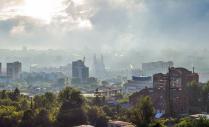 Туман и солнце над Уфой