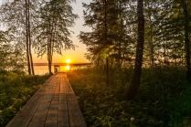 Закат на озере Сундукуль