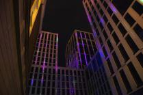 Подсветка здания в центре Уфы
