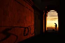 Закат цвета Апероль