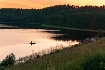 Ночная рыбалка.