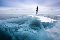 3Д трещины на льду Байкала
