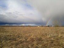 Апрельская радуга отступает на север