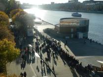 Воскресный день на Пушкинской набережной