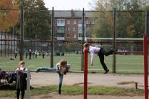 На школьном дворе