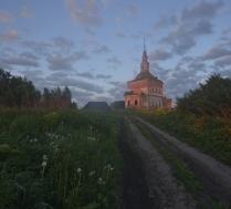 Дорога к сельскому храму