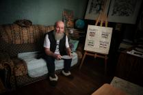 Портрет наивного художника Ивана Коретникова