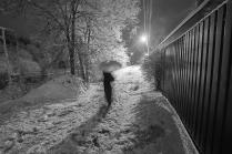 По зимней улочке