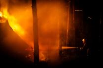Ночной пожар в лесу