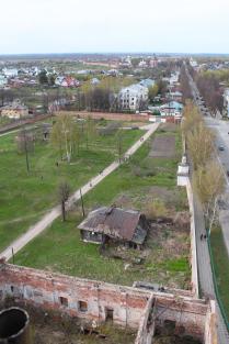 Вид с колокольни Ризоположенского монастыря