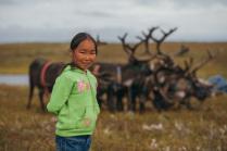 Дочь оленеводов. Ненецкая Тундра.