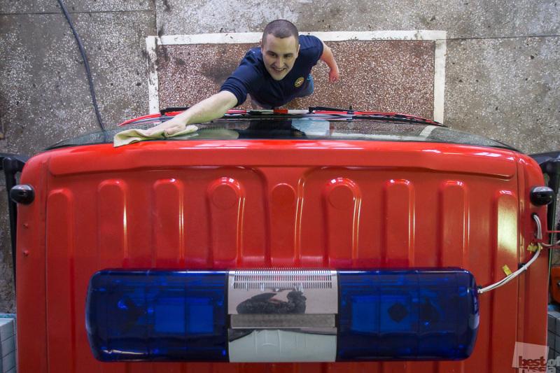 Работа пожарной части в Казани