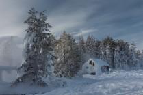 Снежно...
