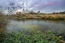 Морозное осеннее утро на реке Чусовой