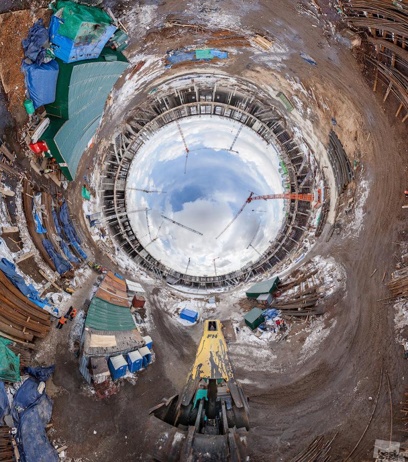 Строящийся к ЧМ-2018 стадион в Нижнем Новгороде