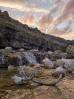 Череп оленя у водопада