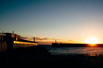 Огненнныи закат на Черном море