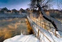 Зимний закат на окраине Екатеринбурга