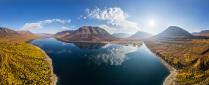 Панорама озера Лама, плато Путорана
