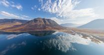 Отражения озера Лама, плато Путорана