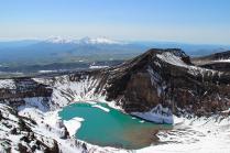 В кратере вулкана Горелый