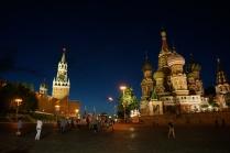 Васильевский спуск ночью