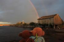 Обезьянки и радуга