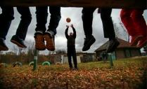 Занятия физкультурой в сельской школе