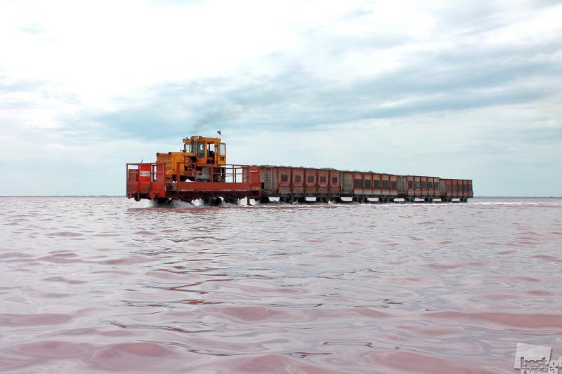 Добыча соли на озере Бурлинском, Алтайский край