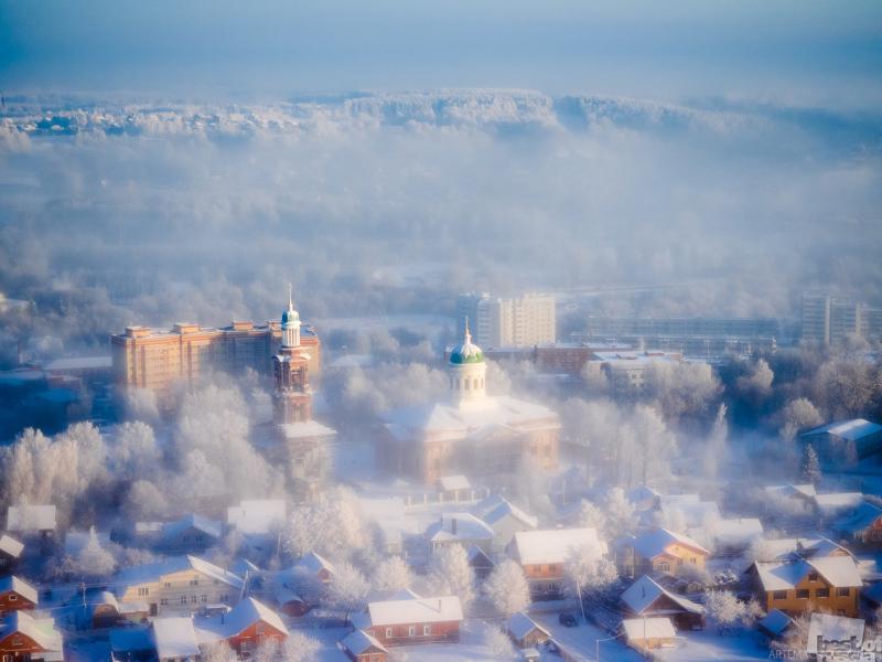 Вид из воздушного шара Федора Конюхова