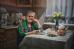 Вечернее чаепитие. Любимая бабушка.