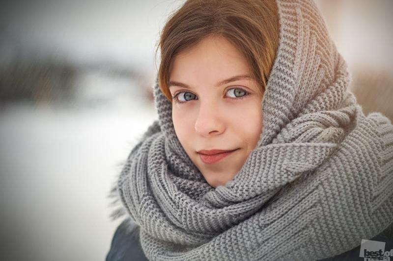 Зимний фотопортрет