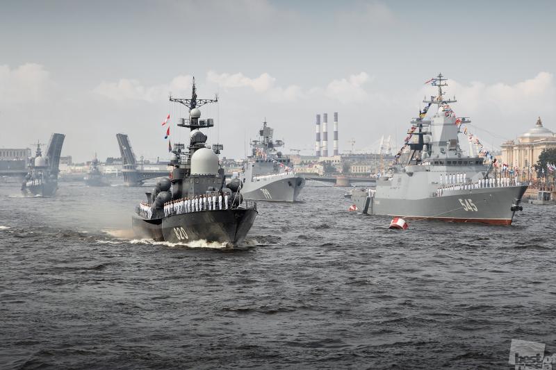 Главный Военно-морской парад России.