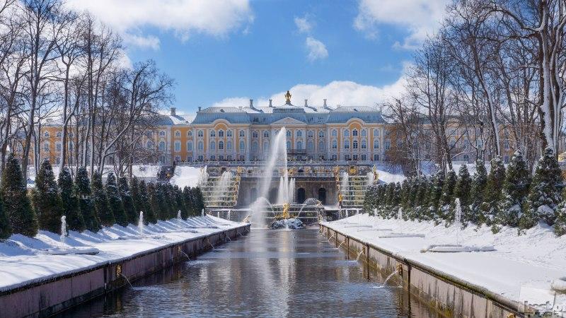 Снежный Петергоф.