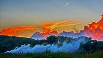 Закат возле деревни Черная Грязь