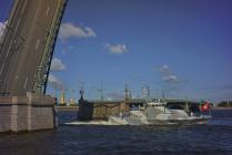 Парад кораблей ВМФ России в Санкт-Петербурге летом  2017 году