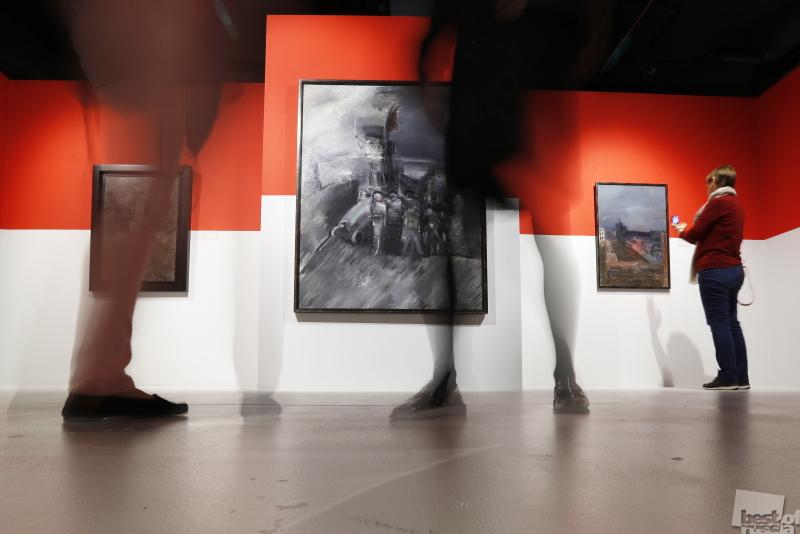 """Выставка художника А. Лабаса """"Октябрь"""" в Москве"""