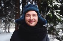 Зимушка зима и меховая шапка.