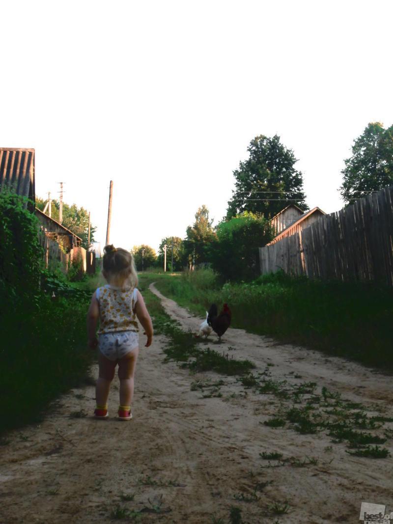 Хорошо в деревне летом. Взрослым хорошо и детям!