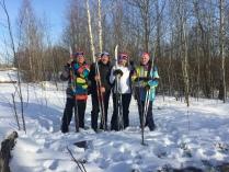 Семья автора фото на лыжной прогулке