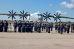Торжественное построение личного состава авиационного полка в честь 105-ой годовщины ВВС