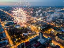 Салют на День города Новосибирска