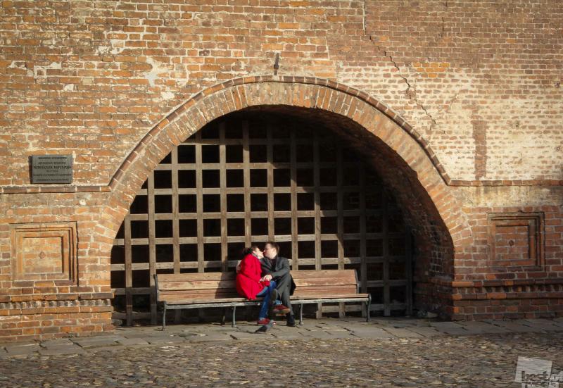 """""""Исторический"""" поцелуй."""