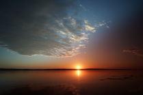 Восход над рекой Волгой